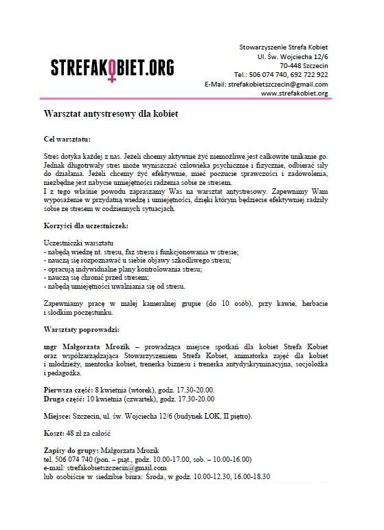 warsztat antystresowy_kwiecień